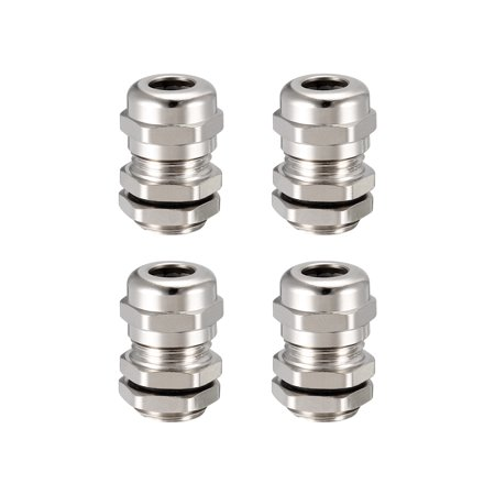 M12 Range (4Pcs M12 Cable Gland Metal Waterproof Wire Glands Joints for 3mm-6.5mm Dia Range )