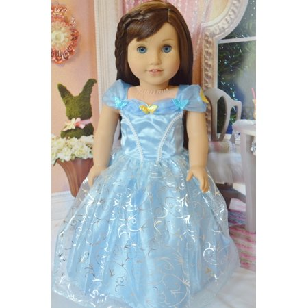 Swirly Girl - MY BRITTANY'S CINDERELLA WITH BUTTERFLIES AND SWIRL FABRIC DESIGN FOR AMERICAN GIRL DOLLS