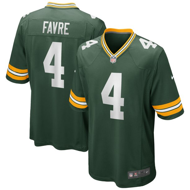 Brett Favre Green Bay Packers Nike Game Retired Player Jersey - Green