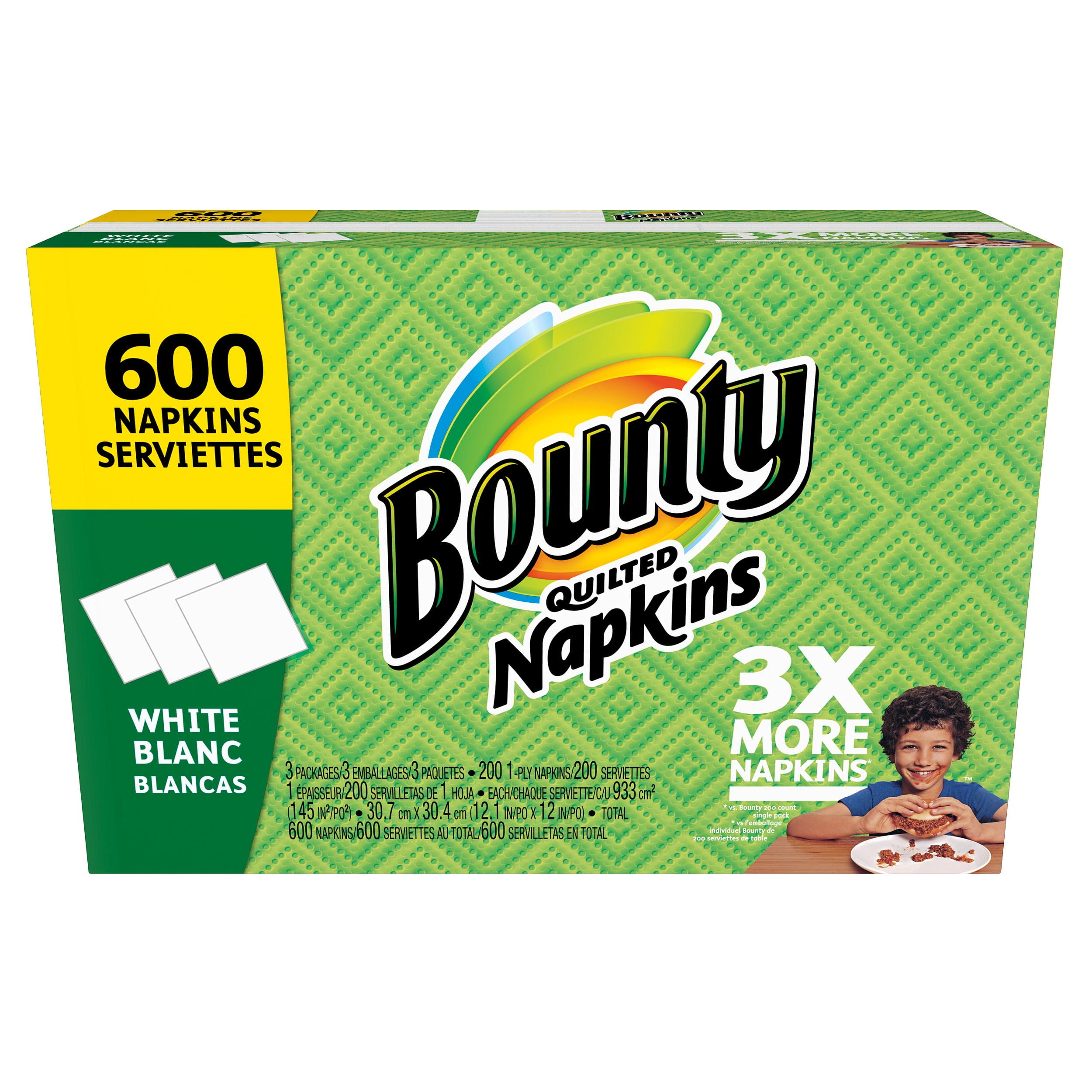 Bounty Paper Napkins, White, 600 Count