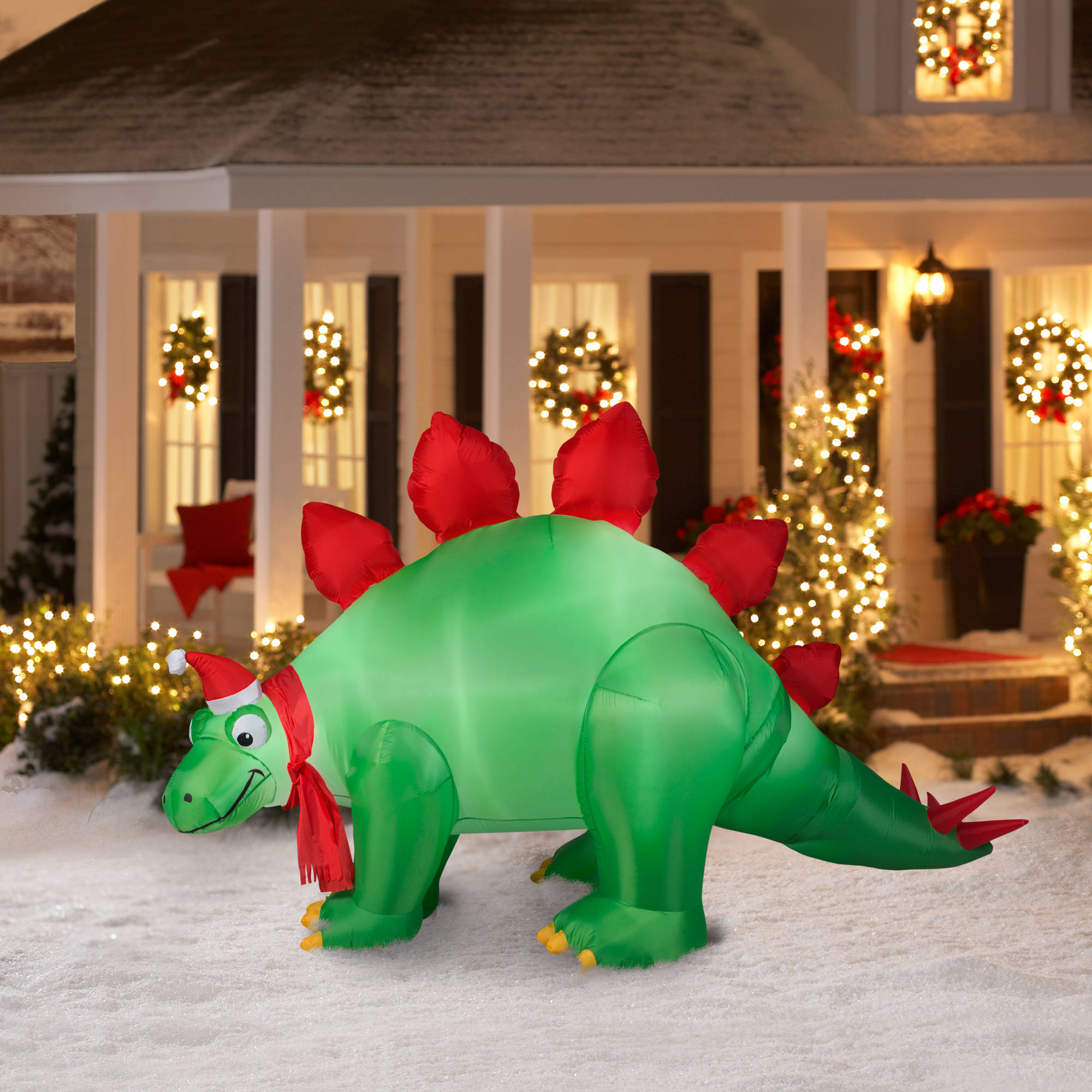 9 animated airblown inflatable stegosaurus christmas inflatable walmartcom