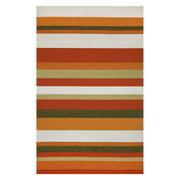 Liora Manne Ravella Stripe Orange Area Rug