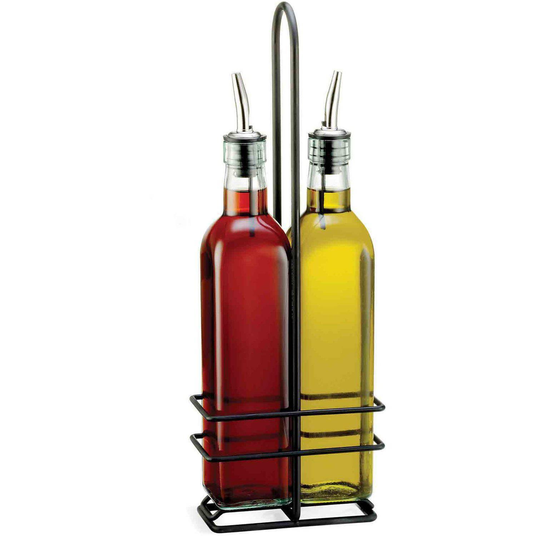 tablecraft  oz prima oil and vinegar bottle set  walmartcom -