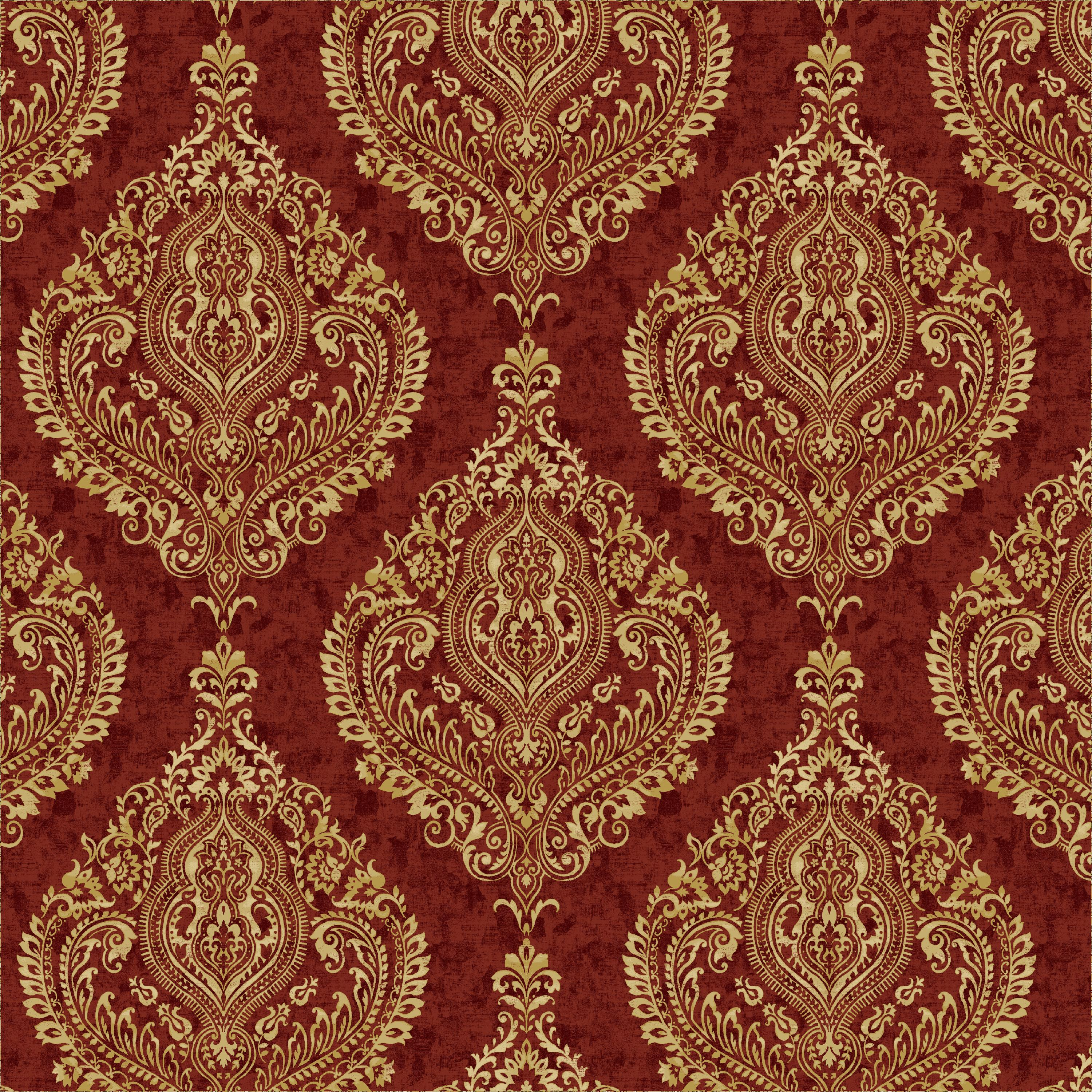 "Waverly Inspirations Cotton Duck 45"" Large Damask Antique Fabric, per Yard"
