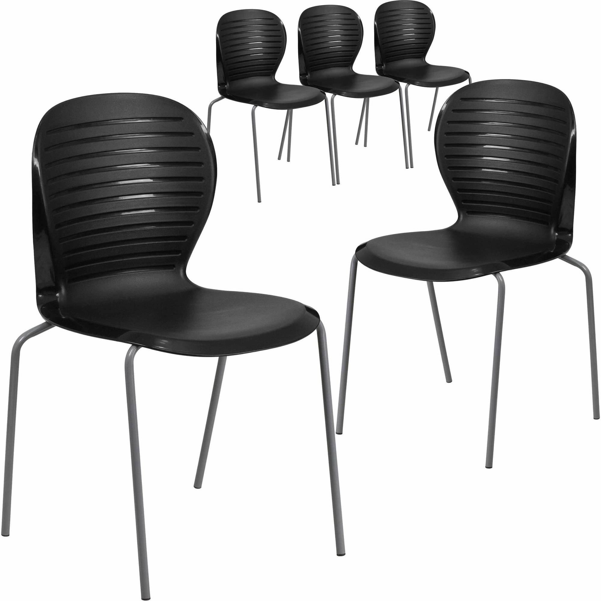 Flash Furniture 5-Pack HERCULES Series 551 lb Capacity Stack Chair, Multiple Colors