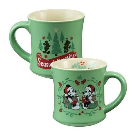 Vandor Llc Disney Mickey   Minnie Mouse Fluted Ceramic Coffee Mug