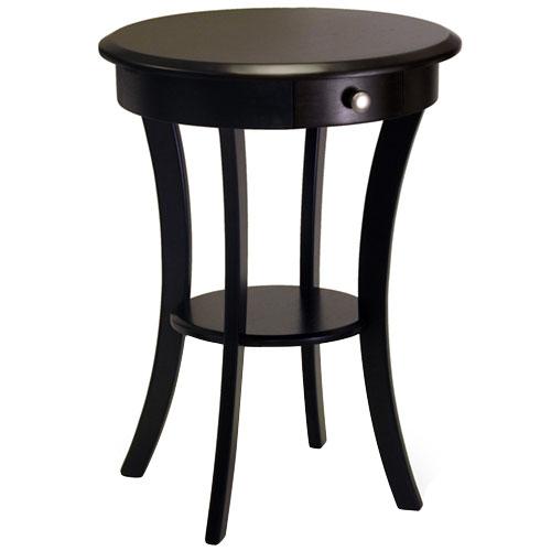 Winsome Wood Sasha Accent Table, Black Finish, Multiple Colors