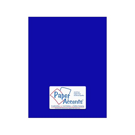PA Paper Accents Smooth 65lb Cardstock 8.5x11 Royal Blue 25 Sheets
