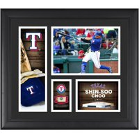 "Shin Soo Choo Texas Rangers Framed 15"" x 17"" Player Collage with a Piece of Game-Used Ball"