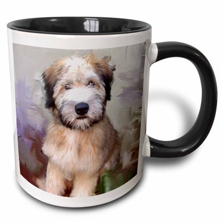 3dRose Soft Coated Wheaten Terrier - Two Tone Black Mug,