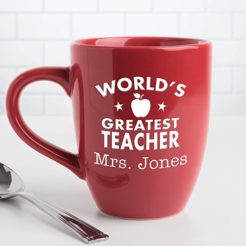 World's Greatest Teacher Personalized Coffee Bistro Mug