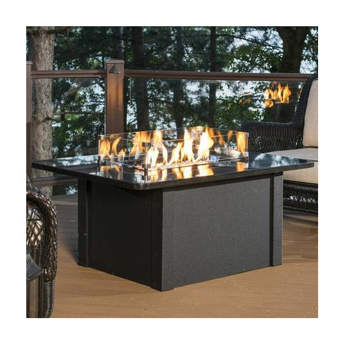 The Outdoor GreatRoom Company Grandstone Crystal Firepit Table by The Outdoor GreatRoom Company