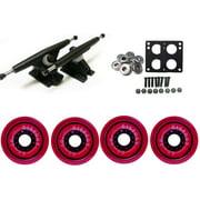 Randal 180 LONGBOARD TRUCKS Package 68mm 80a CLEAR RED Wheels