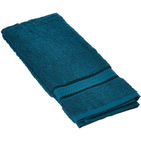 Beauty Threadz Ultra Soft 6 Pack Hand Towels 16x28 Teal weighs 6 Ounces each - 100% Pure Ringspun Cotton - Luxurious Rayon trim - Ideal for everyday use - Easy care machine