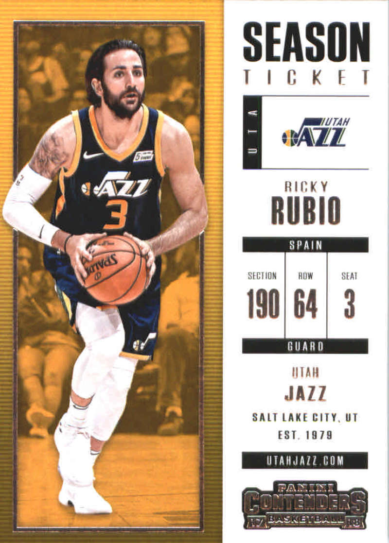 Ricky rubio 2017-18 Panini Contenders baloncesto Walker #64
