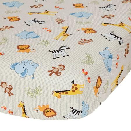 Lambs & Ivy Bedtime Originals Jungle Buddies Crib Sheet