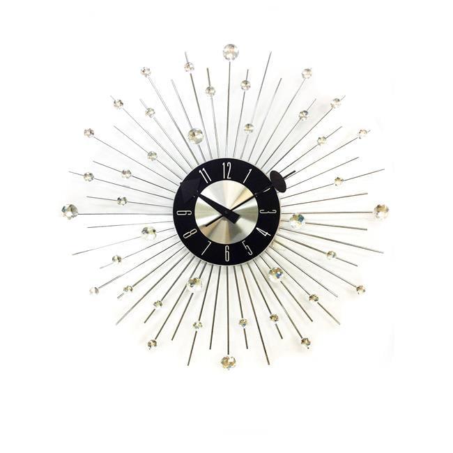 World Friendly World 121971 Bling Piccolo Jewels With Rhinestones Clock