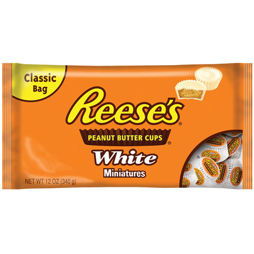 Reese's Cups Peanut Butter White Miniatures Chocolate, 12 Oz