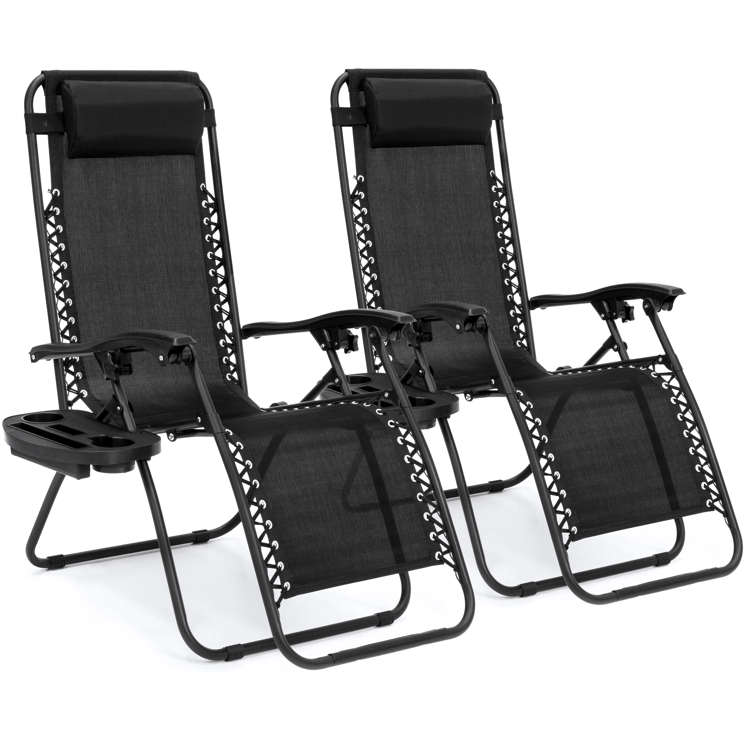 Zero Gravity Chairs Case Of (2) Lounge Patio Chairs Outdoor Yard Beach New