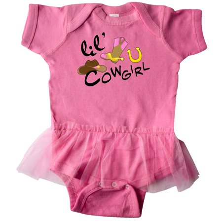 Inktastic Lil Cowgirl Infant Tutu Bodysuit Children Future Job Little Hat Star