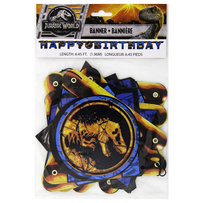 Jurassic World Birthday Banner, 6.45 ft, 1ct