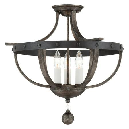 (Savoy House Alsace 6-9540-3-196 Semi-Flush Mount Light)