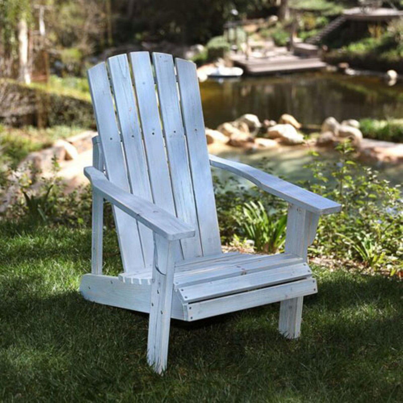 Lakewood Rustic Adirondack Chair Dutch Blue by Shine Company