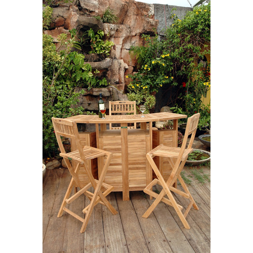 Anderson Teak Altavista Teak 3 Piece Bar Set by Anderson Collection