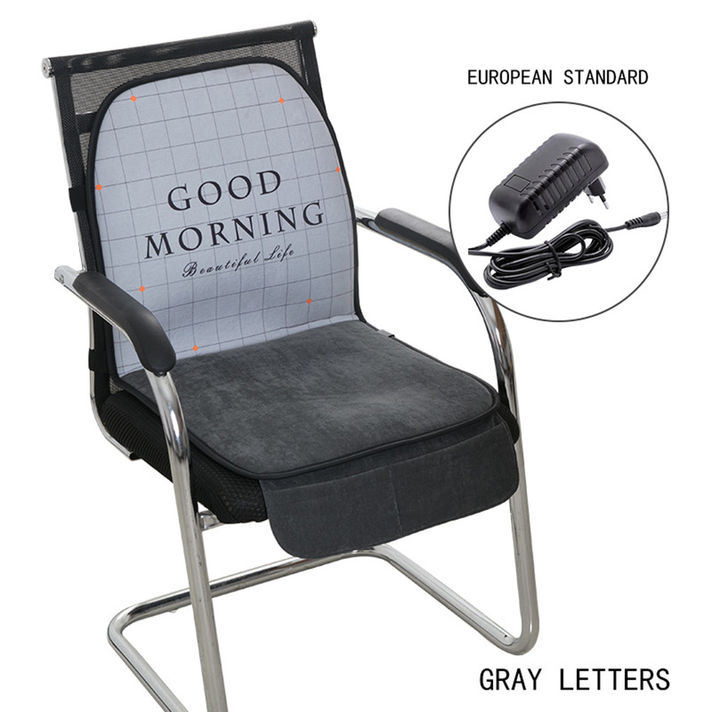 Heated Seat Cushion Heating Pad Integrated Letter Printed Cushion For Home Office Seat Walmart Com Walmart Com