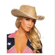Adult Straw Cowgirl Hat