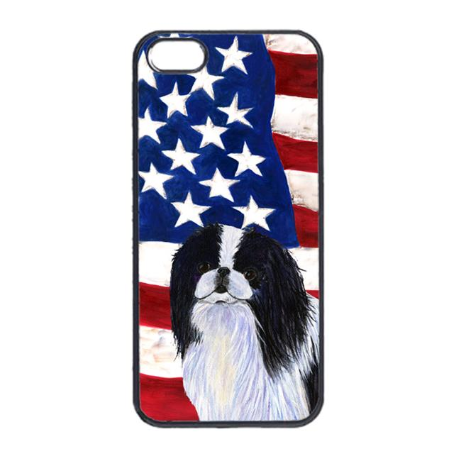 Carolines Treasures SS4223IP5 USA American Flag With Japanese Chin Iphone 5 Cover - image 1 de 1