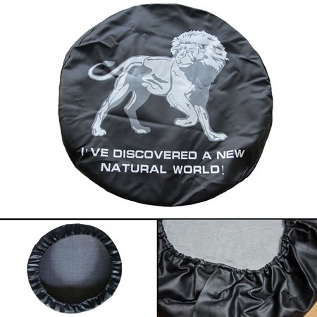 "Image of ""Areyourshop Spare Wheel Tire Cover Pouch Soft Case Protector 28"""" 29"""" inches Lion Image Spare Wheel Tire Cover Pouch Soft Case Protector 28"""" 29"""" Lion Image For cars"""