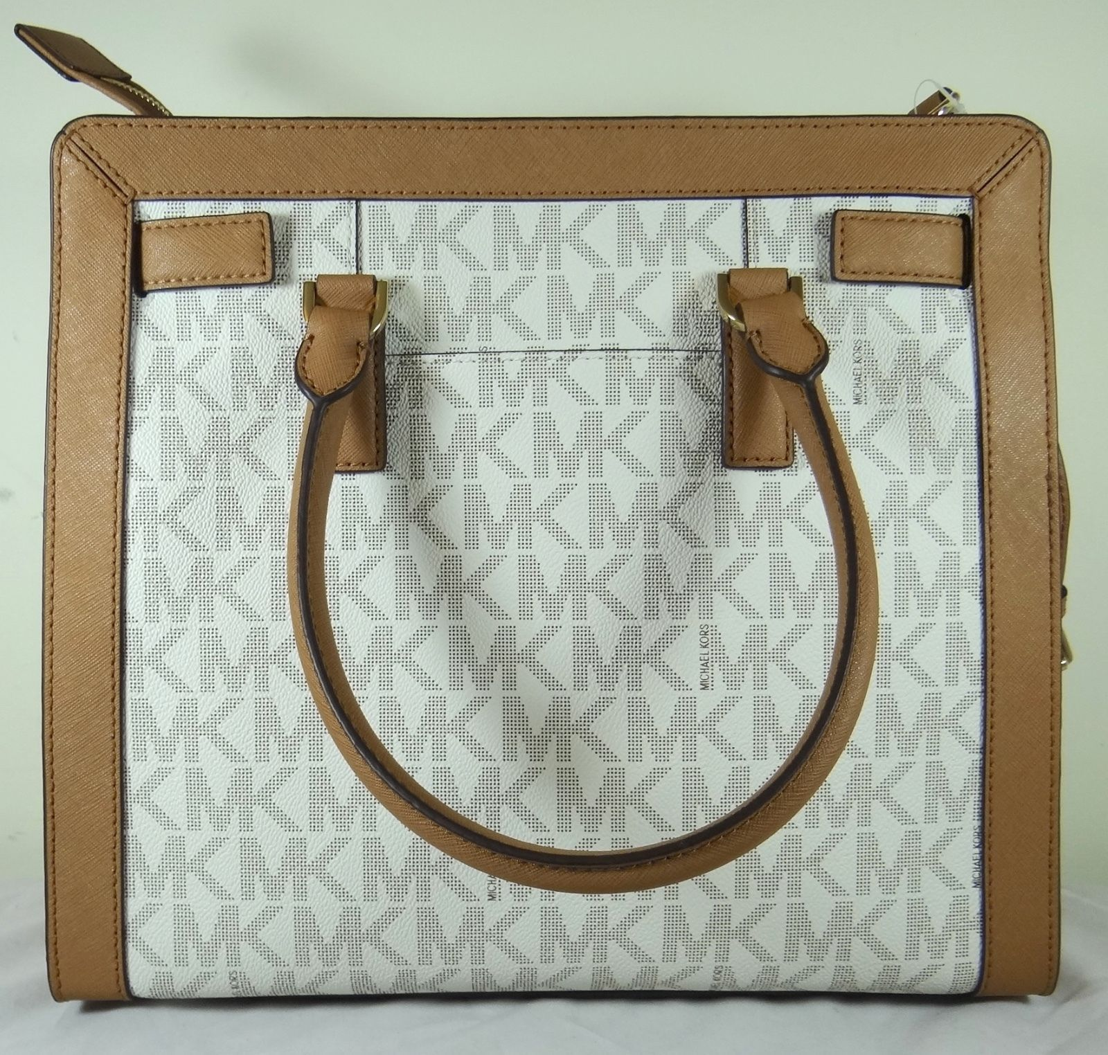 f5e8517e4a58 Michael Kors Dillon Large North South Vanilla Signature Satchel Tote Bag -  Walmart.com