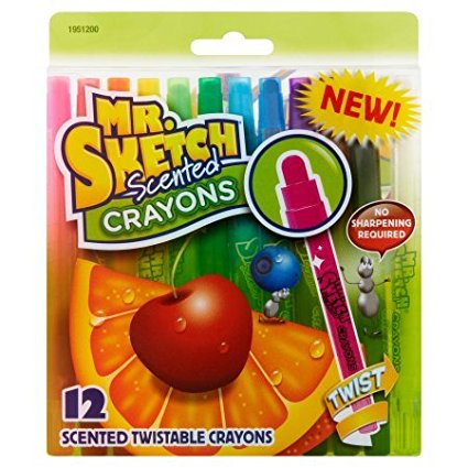 Scented Twistable Crayons, Assorted, 12pk By:Mr. Sketch, No sharpening required By Mr Sketch from USA