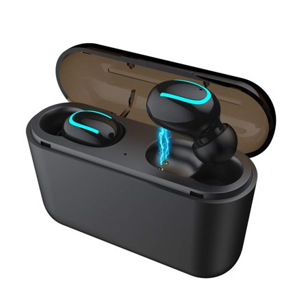 SEGMART wireless earbuds for Android 2019 True Wireless Bluetooth Earbuds Latest 5.0 Bluetooth Earbuds 24 Hours Playtime Quality Stereo Sound, Silicone Headphones,