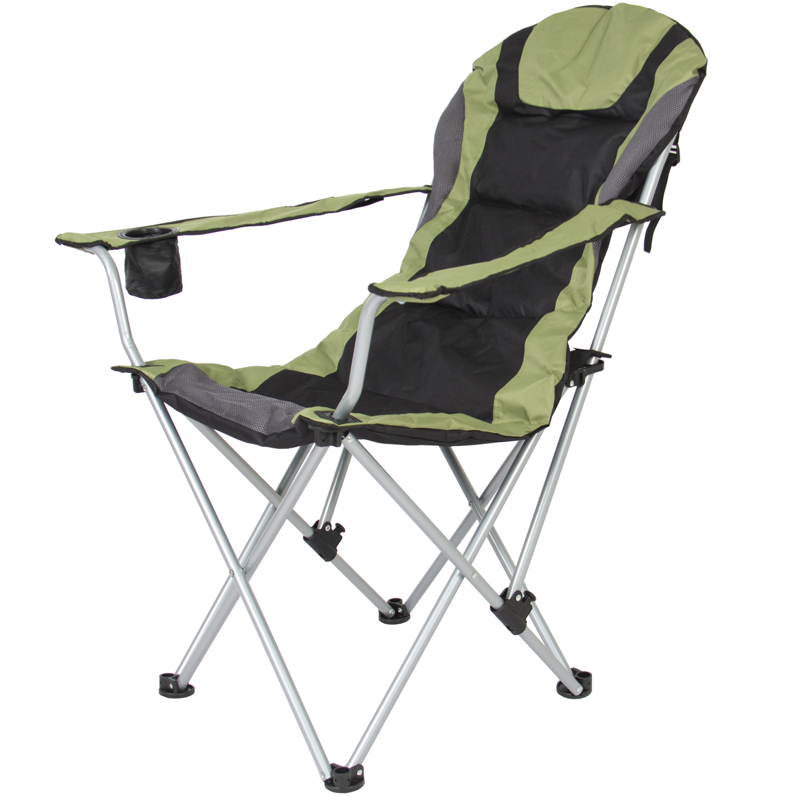 Excellent Best Choice Products Deluxe Padded Reclining Camping Fishing Beach Chair W Portable Carrying Case Green Creativecarmelina Interior Chair Design Creativecarmelinacom