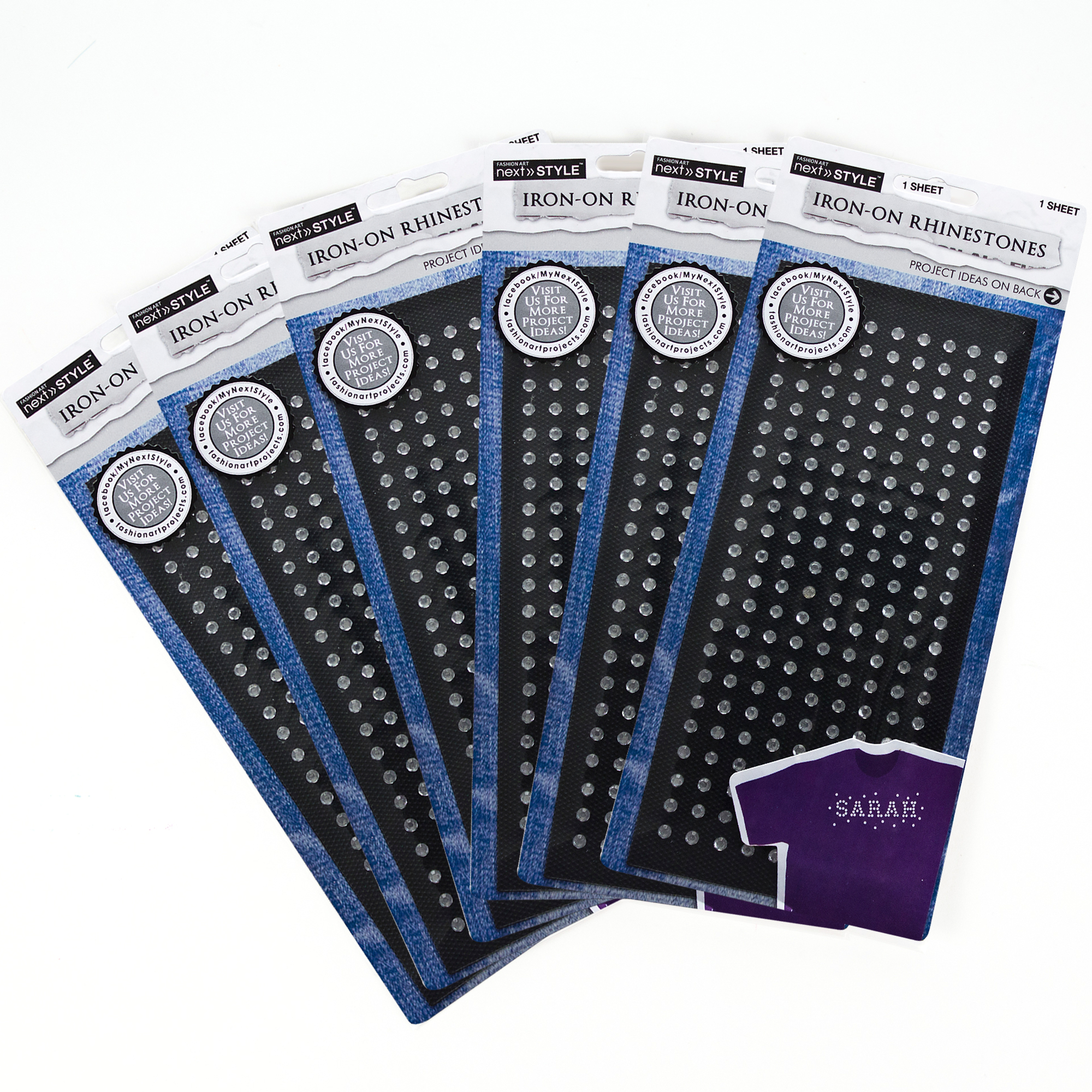 Horizon Group USA Create Out Loud Clear Iron-On Stones, 6pk