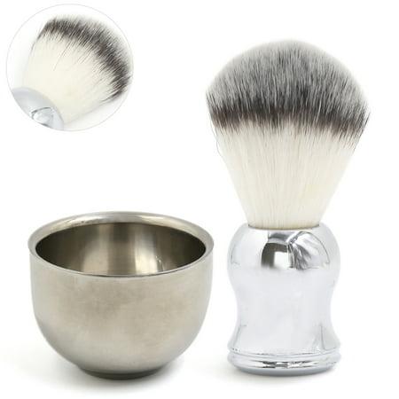 Soft Badger Hair Shaving Brush And Bowl Kit Stainless Steel Shaving