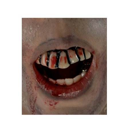 The Walking Dead Bloody Teeth Costume Prosthetic Adult One Size - Halloween Teeth Prosthetics