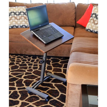 - Ktaxon Laptop Desk Height Adjustable Rolling Notebook Sofa Bed Tray Table Stand Brown