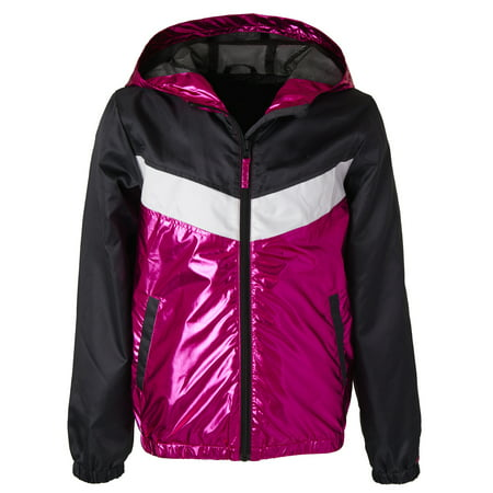 Metallic Colorblock Windbreaker Jacket with Mesh Lining (Little Girls & Big Girls)](Girls Jacket)