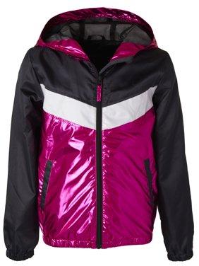 Metallic Colorblock Windbreaker Jacket with Mesh Lining (Little Girls & Big Girls)