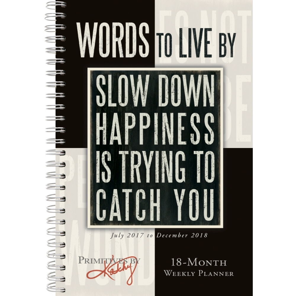Words to Live By Planner Calendar, Women's Inspiration by Sellers  Publishing - Walmart.com