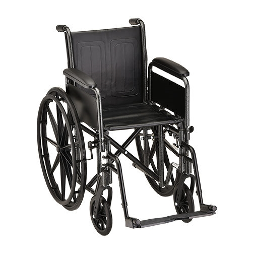 16 Inch Steel Wheelchair Detachable Arms & Footrests - 1 Each / Each - 5166S