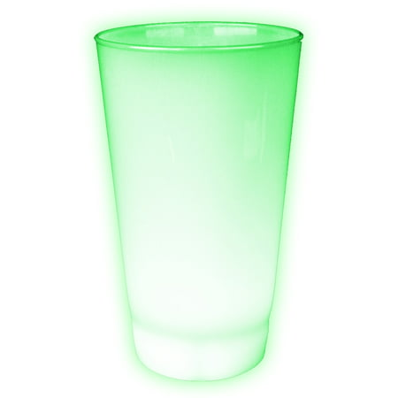 Fun Central (I563) 1 pc 16 oz Glow in the Dark Green LED Cup,  Flashing LED Drinking Cups, LED Green Party Cups