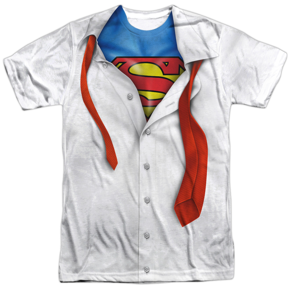 Superman Cartoon TV Series Movie Costume Break Out Adult Front Print T-Shirt