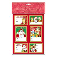 Island Heritage Holiday Lucky Cat 18 Pack Adhesive Christmas Gift Tag Labels