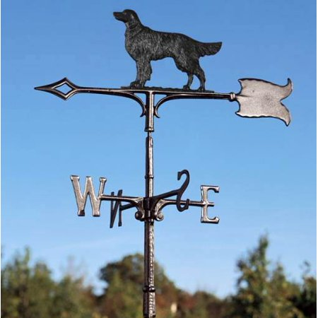 30 in. Golden Retriever Rooftop Weathervane in Black