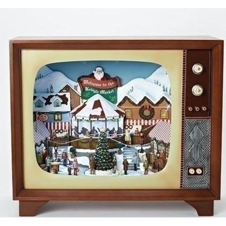 235 led musical santa claus german market christmas tv decoration
