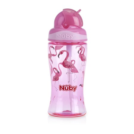 Nuby Thirsty Kids 12oz Flip-it Boost Cup, - Silver Plated Child Cup